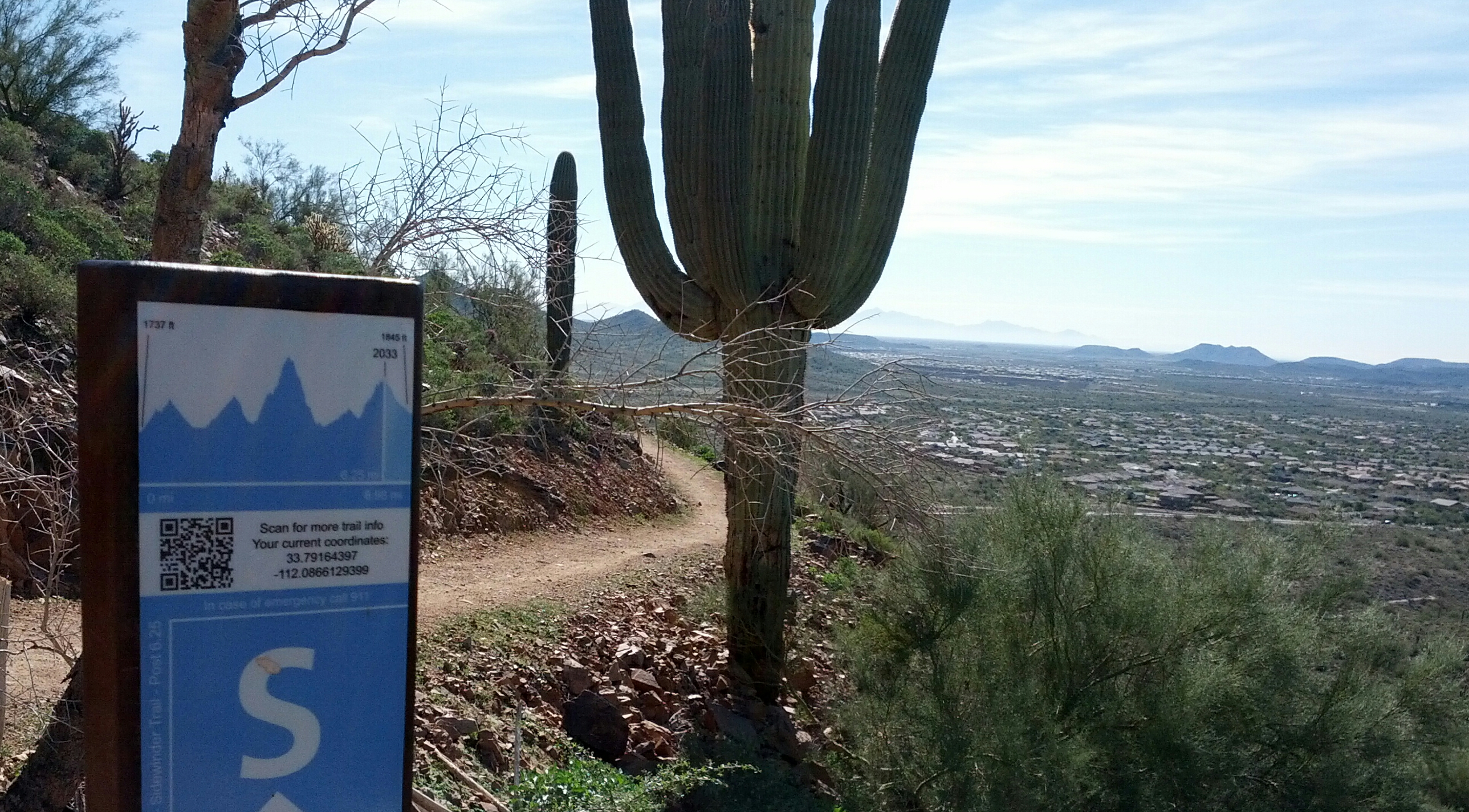 Sidwinder Trail in the Phoenix Sonoran Preserve